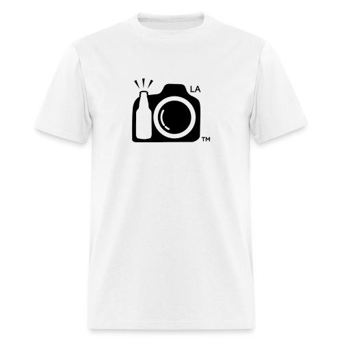 Men's Standard Weight T-Shirt Black Large Logo Los Angeles - Men's T-Shirt