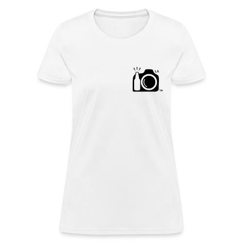 Women Standard Weight T-Shirt Black Small Logo Los Angeles - Women's T-Shirt