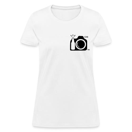 Women Standard Weight T-Shirt Black Small Logo Chicago - Women's T-Shirt