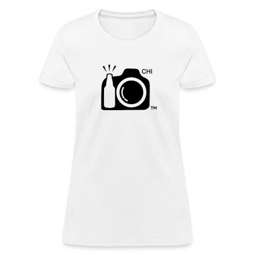 Women Standard Weight T-Shirt Black Large Logo Chicago - Women's T-Shirt
