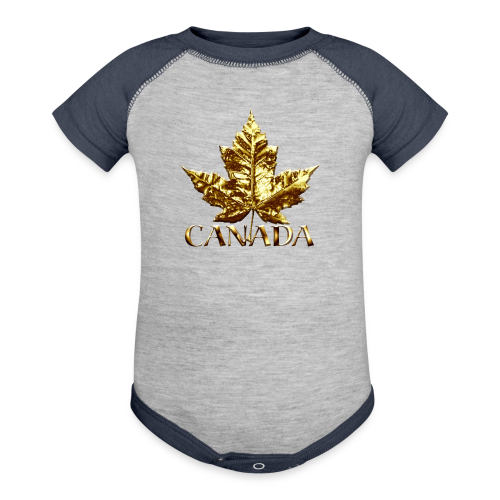 Baby Canada One-Piece Gold Medal Baby Canada Souvenirs - Baby Contrast One Piece