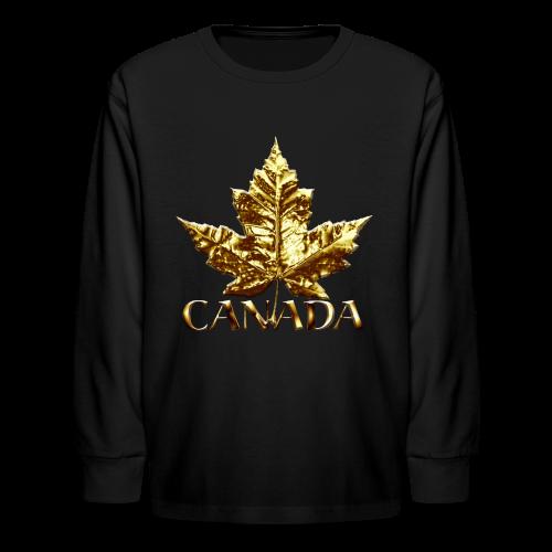 Kid's Canada Shirts Gold Medal Canada T-shirt - Kids' Long Sleeve T-Shirt