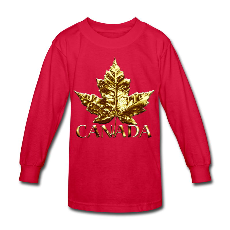 Kid's Canada Shirts Gold Medal Canada T-shirt - Kids' Long Sleeve T-Shirt