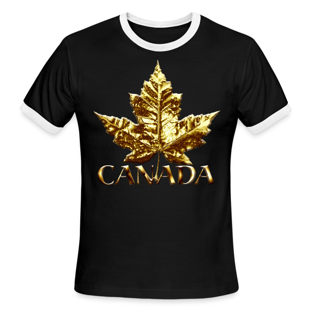 Men's Canada Ringer Shirts Gold Medal Canada T-shirts
