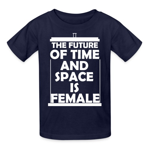 tardis_female_white - Kids' T-Shirt