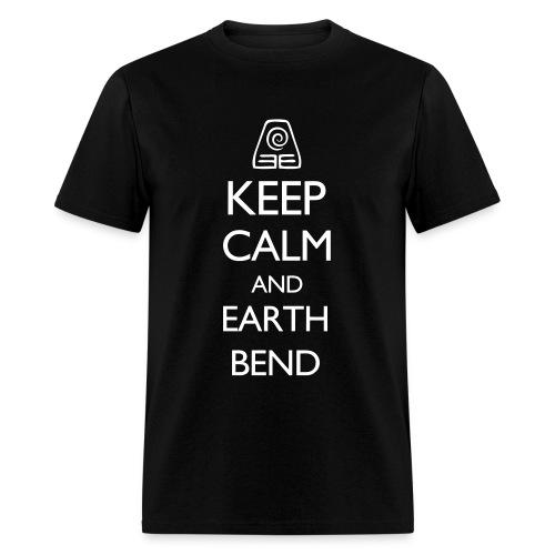 AVATAR LOK - KEEP CALM AND EARTH BEND - Men's T-Shirt