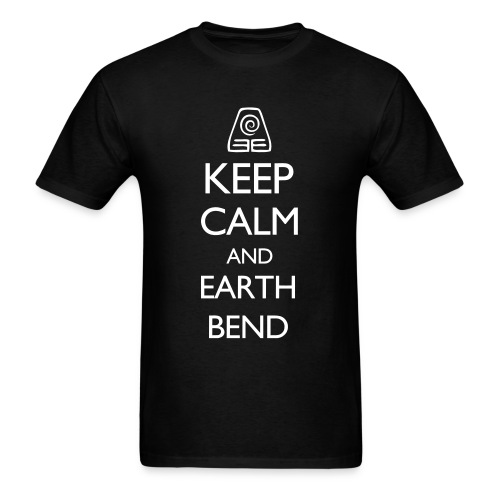 AVATAR LOK - KEEP CALM AND EARTH BEND - Men's T-Shirt