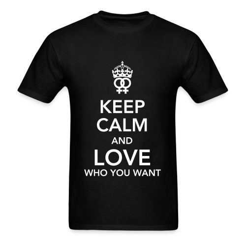 love who you want! - Men's T-Shirt