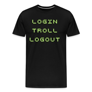 login troll logout - Men's Premium T-Shirt