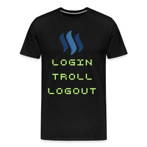 login troll logout steemlogo - Men's Premium T-Shirt