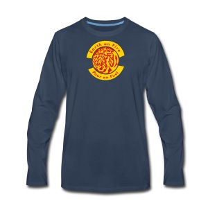 Earth on Fire  Pour on Fuel - Men's Premium Long Sleeve T-Shirt