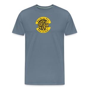 Earth on Fire  Pour on Fuel - Men's Premium T-Shirt
