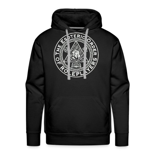 Esoteric Order of Roleplayers Logo Men's Premium Hoodie (White Logo) - Men's Premium Hoodie