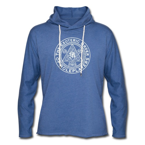 Esoteric Order of Roleplayers Logo Unisex Terry Hoodie (White Logo) - Unisex Lightweight Terry Hoodie