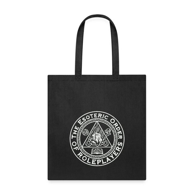 Esoteric Order of Roleplayers Logo Tote Bag (White Logo)