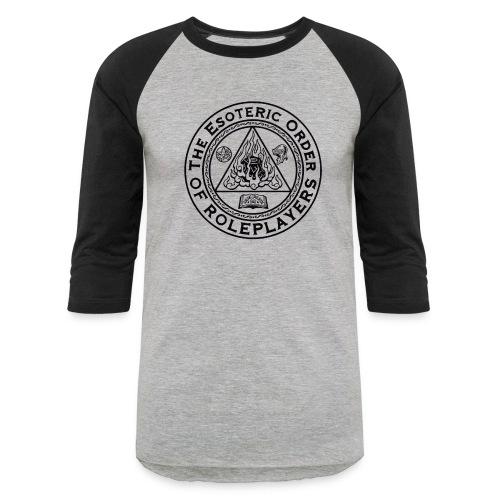 Esoteric Order of Roleplayers Logo Raglan Tee (Black Logo) - Baseball T-Shirt