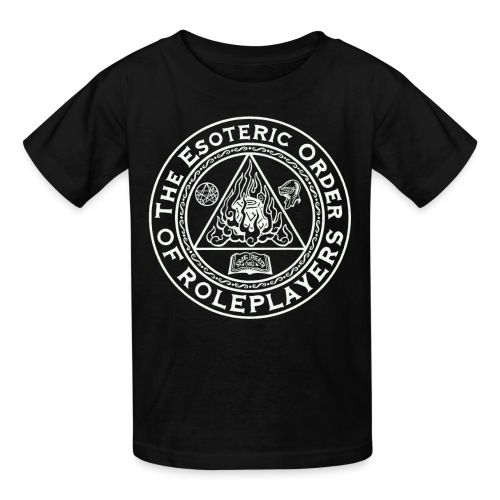 Esoteric Order of Roleplayers Logo Kid's T-shirt (White Logo) - Kids' T-Shirt