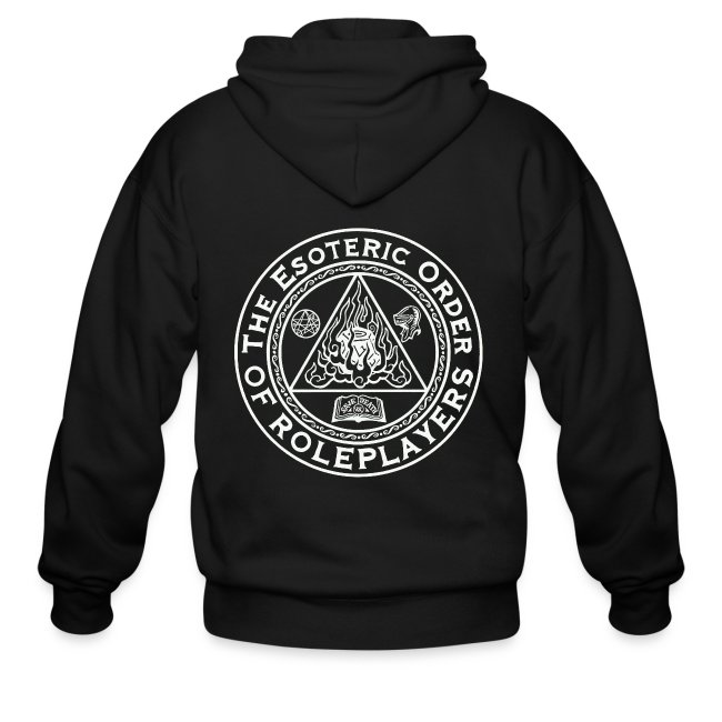 Esoteric Order of Roleplayers Logo Men's Zip Hoodie (White Logo)
