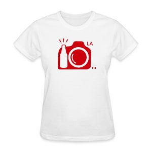 Women Standard Weight T-Shirt Red Large Logo Los Angeles - Women's T-Shirt