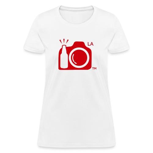Women Standard Weight T-Shirt Red Large Logo Los Angeles - Women's T-Shirt