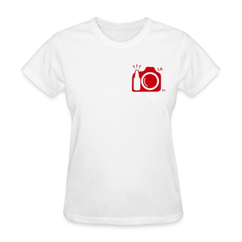 Women Standard Weight T-Shirt Small Red Logo Los Angeles - Women's T-Shirt