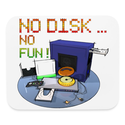No Disk - No Fun - DIGITAL - Mouse pad Horizontal