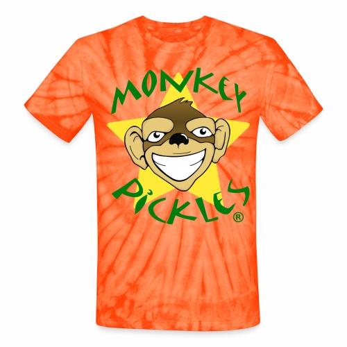 Monkey Pickles Unisex Tie Dye T-Shirt - Unisex Tie Dye T-Shirt