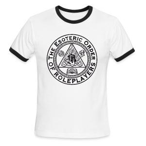 Esoteric Order of Roleplayers Logo Ringer Tee (Men's Dark Logo) - Men's Ringer T-Shirt