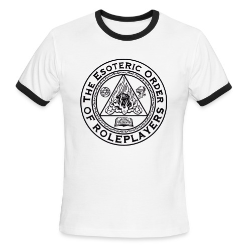 Esoteric Order of Roleplayers Logo Ringer Tee (Men's Dark Logo) - Men's Ringer T-Shirt