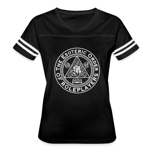 Esoteric Order of Roleplayers Logo Vintage Sport Tee (Women's White Logo) - Women's Vintage Sport T-Shirt