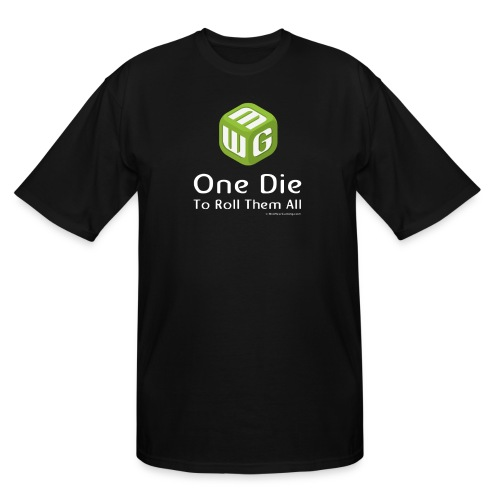 Steve Sized One Die to Roll them All - Men's Tall T-Shirt