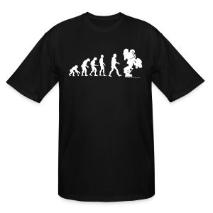Steve Sized Evolution - Men's Tall T-Shirt