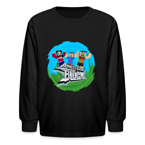 Adventure Block (CRAFTY) - Kids' Long Sleeve T-Shirt
