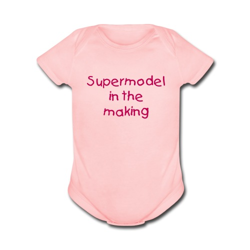 Supermodel baby short sleeve - Organic Short Sleeve Baby Bodysuit