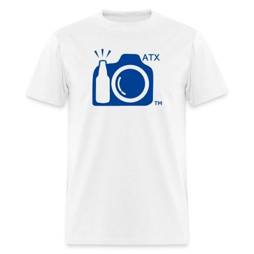 Men's Standard Weight T-Shirt ATX Initials Large Blue Logo - Men's T-Shirt