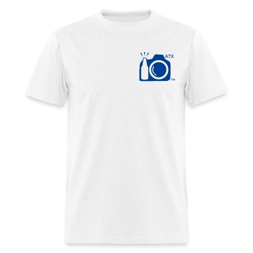 Men's Standard Weight T-Shirt ATX Initials Small Blue Logo - Men's T-Shirt