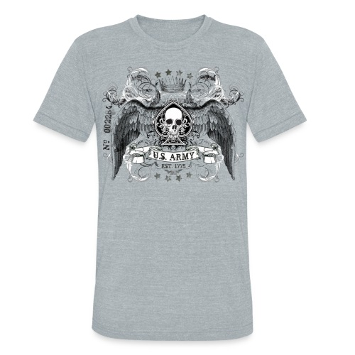 US ARMY B.A. Vintage Tee - Unisex Tri-Blend T-Shirt