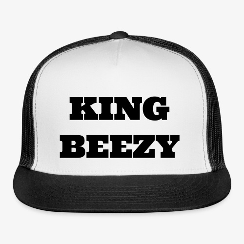 KING BEEZY Trucker Cap (Black & White/Black Text) - Trucker Cap