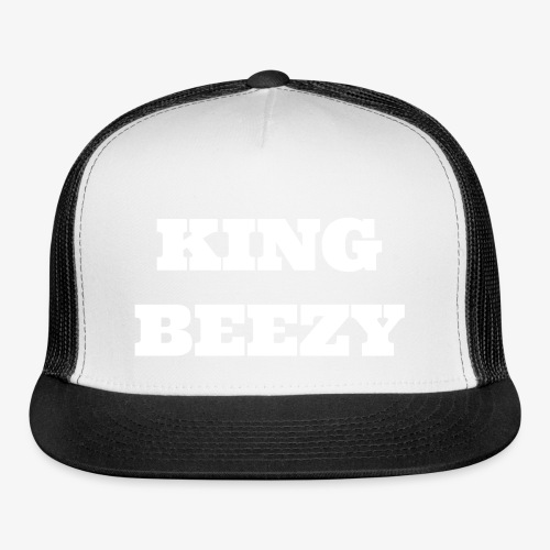 KING BEEZY Trucker Cap (Grey/White Text) - Trucker Cap