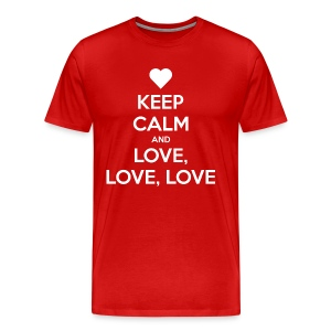 Keep Calm and Love love love t-shirt - Men's Premium T-Shirt