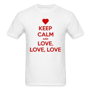 Keep Calm and Love love love t-shirt - Men's T-Shirt
