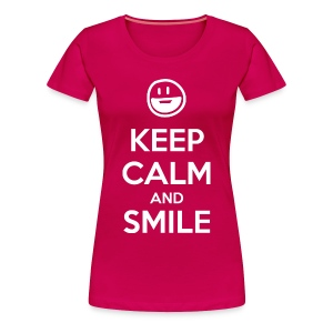 Keep Calm and Smile t-shirt - Women's Premium T-Shirt