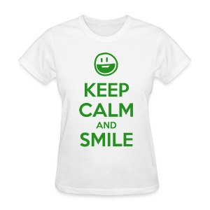 Keep Calm and Smile t-shirt - Women's T-Shirt