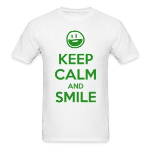Keep Calm and Smile t-shirt - Men's T-Shirt