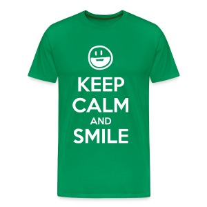 Keep Calm and Smile t-shirt - Men's Premium T-Shirt