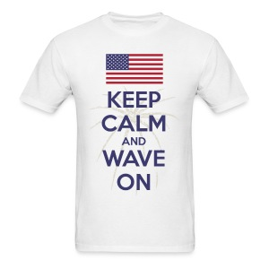 Keep Calm and Wave on t-shirt - Men's T-Shirt