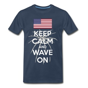 Keep Calm and Wave on t-shirt - Men's Premium T-Shirt