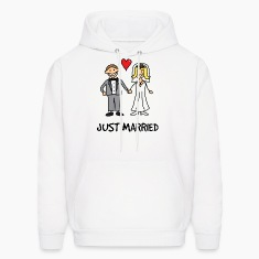 Just Married Newlyweds Cartoon Hoodies