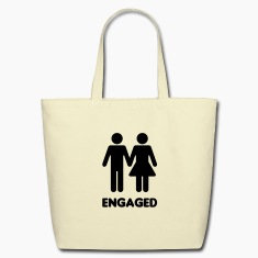 Engaged Couple Sign Bags