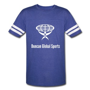 DUNCAN GLOBAL SIGNATURE TWO STRIPES TEE - Vintage Sport T-Shirt